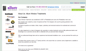 Allure Window Treatment About Us Page