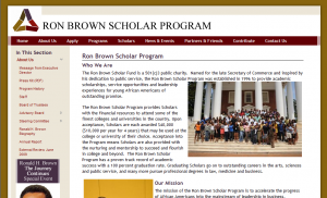 Ron Brown Scholar Program About Us Page