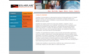 Solar Flare Company Overview Page