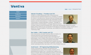 Ventiva Management Team Page