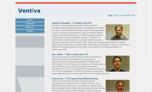 Ventiva Management Team Page