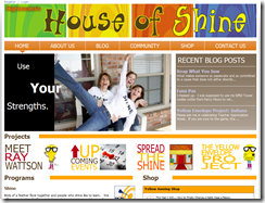 Re-designed House of Shine website.
