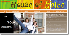 House of Shine website showing the Recent Blog Post module on the home page.