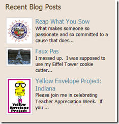 House of Shine recent blog post links placed on the side bar of content pages.