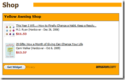 House of Shine website Amazon.com Affiliate Widget